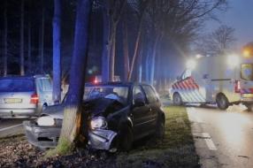 Nieuws: Auto rijdt tegen boom in Sint Hubert, meerdere gewonden onde
