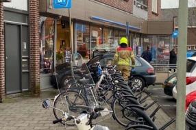 Nieuws: Bejaarde vrouw ramt pui Albert Heijn