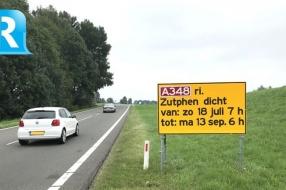 Nieuws: Drie maanden verkeershinder op A348 door groot onderhoud