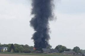 Nieuws: Grote brand in loods in Sint Hubert