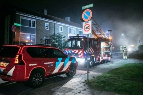 Huis in Velp vliegt in brand, bewoner ontsnapt via bovenraam