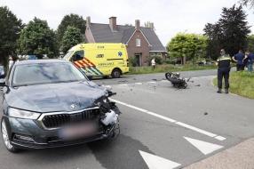 Nieuws: Motorrijder gewond bij botsing met auto in Sint Hubert