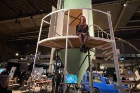 Nieuws: Slapen in een silo, Stella's project trekt aandacht op Dutch