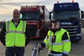 Nieuws: Truckers krijgen toch eten en warme douche bij wegrestaurant