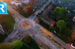 Nieuws: Vanuit de lucht: de aanleg van de nieuwe rotonde in Velp