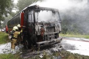 Nieuws: Vrachtwagen vat vlam bij Sint Anthonis: N272 uren dicht